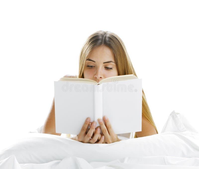 Het lezen in Bed stock foto's