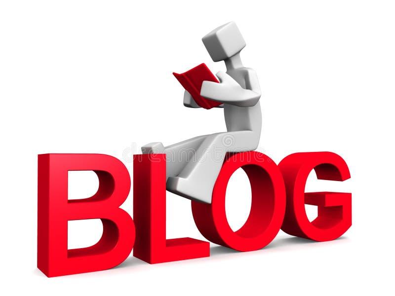 Het lezen van blog concept stock illustratie