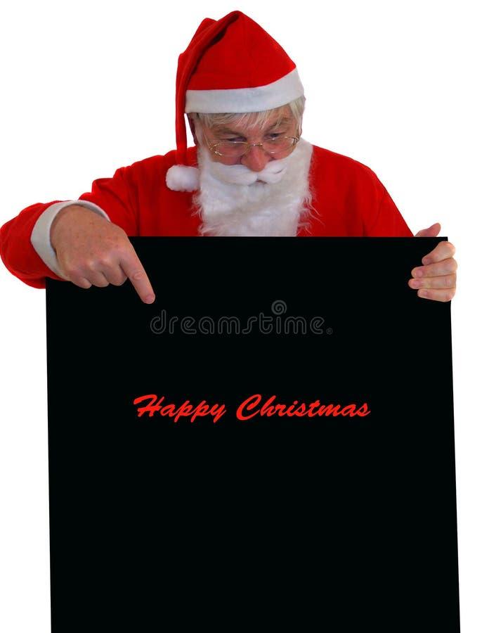 Het Lezen van de kerstman royalty-vrije stock foto's