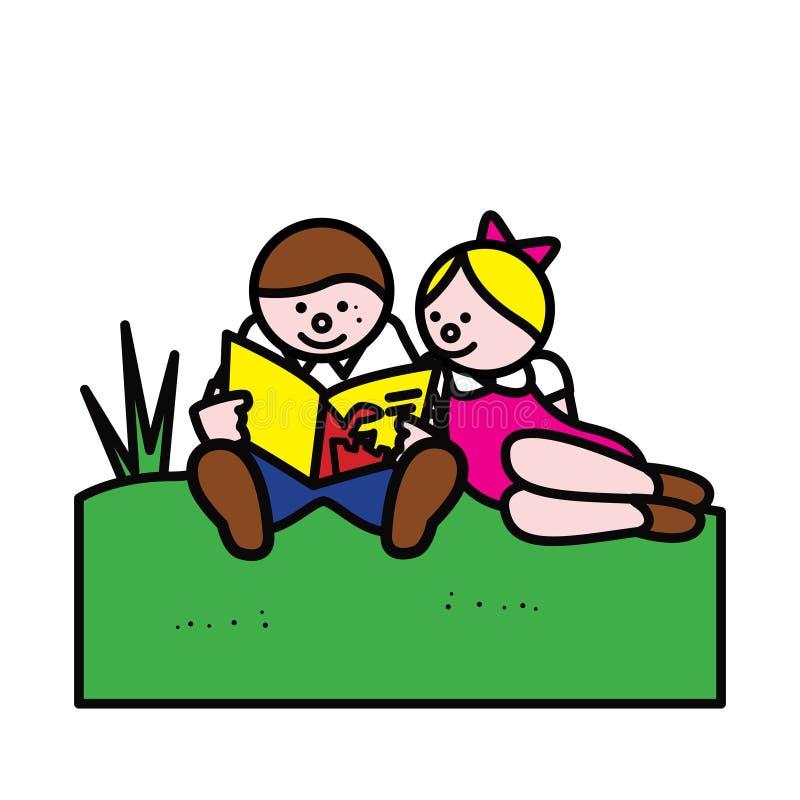 Download Het Lezen Van Jonge Geitjes Stock Illustratie - Illustratie bestaande uit youth, geletterdheid: 10783299