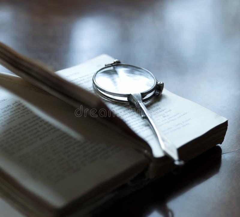 Het lezen van oude poëzie stock fotografie
