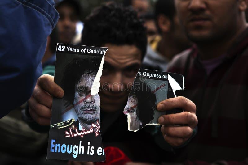 Het Libische Protest van de Ambassade royalty-vrije stock foto