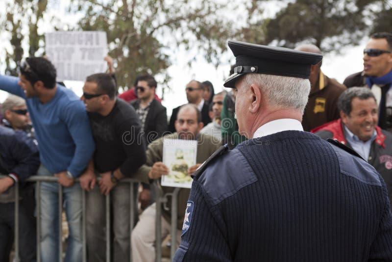 Het Libische Protest van de Ambassade stock foto's