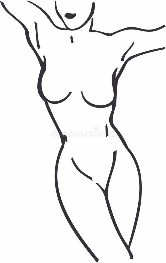 Download Het Lichaam van de vrouw vector illustratie. Illustratie bestaande uit lichaam - 287092
