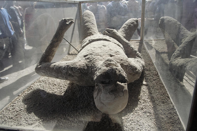 Het Lichaam van het gipsverband in Pompei stock afbeelding