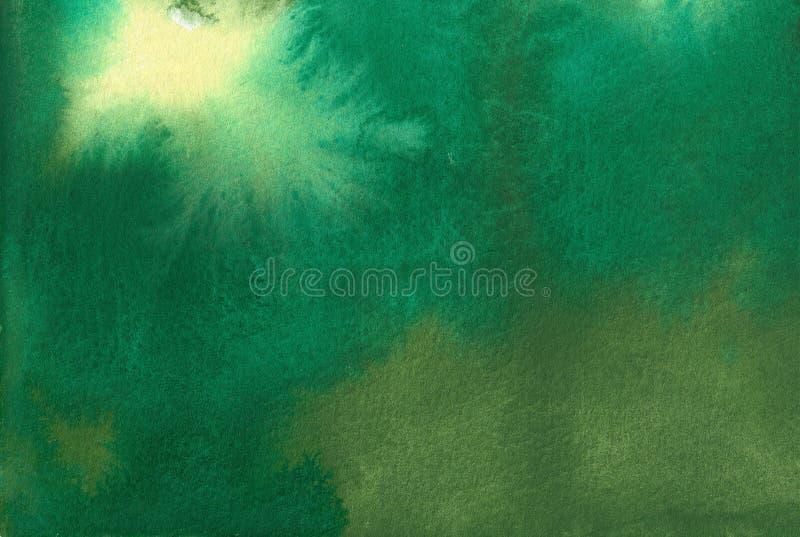 Het licht breekt door - Waterkleur het Schilderen royalty-vrije illustratie