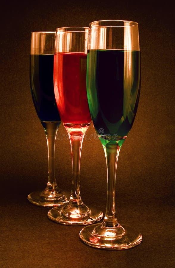 Het licht en de Kleur van de kaars in Glas stock afbeelding