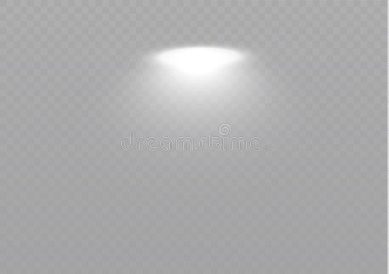 Het licht glanst van de lamp Abstract speciaal effect elementenontwerp Glans straal stock illustratie