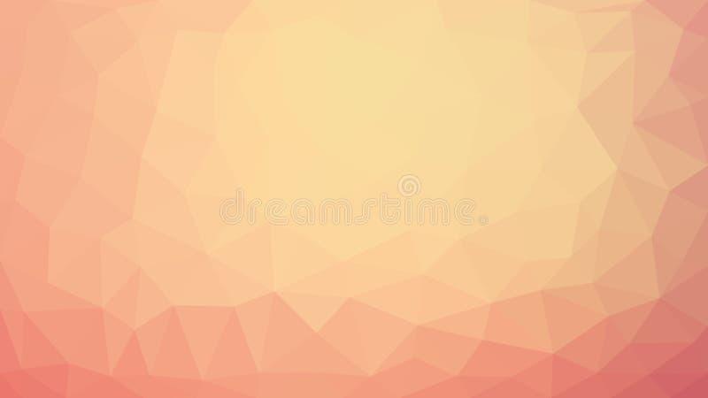 Het licht kleurde lage polyachtergrond Abstract veelhoekontwerp royalty-vrije illustratie