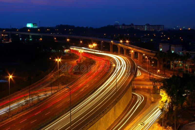 Het Licht van de autosleep stock afbeelding