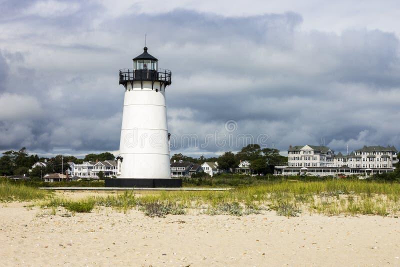 Het Licht van de Edgartownhaven, de Wijngaard van Martha ` s, Massachusetts royalty-vrije stock foto