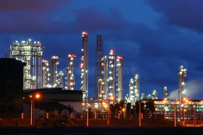 Het licht van de gloed van de petrochemische industrie royalty-vrije stock afbeelding