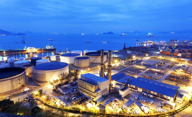 Het licht van de gloed van de petrochemische industrie royalty-vrije stock afbeeldingen