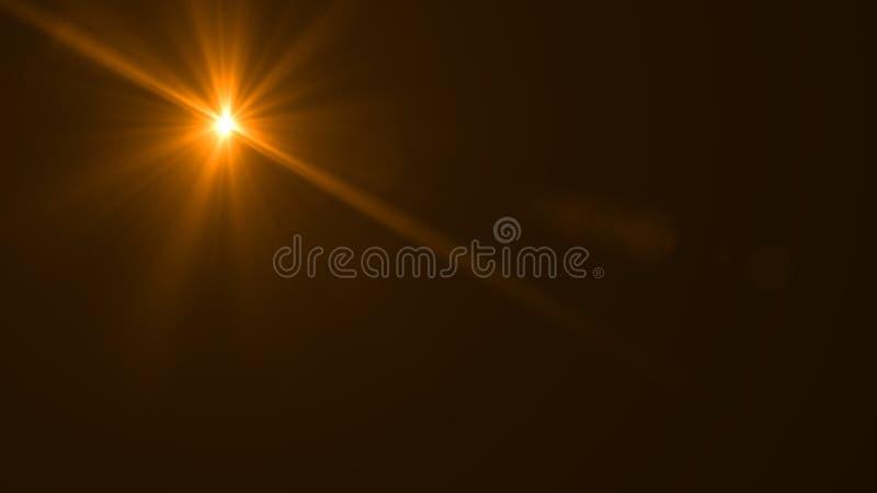 Het licht van de lensgloed over Zwarte Achtergrond Gemakkelijk om bekleding toe te voegen royalty-vrije illustratie