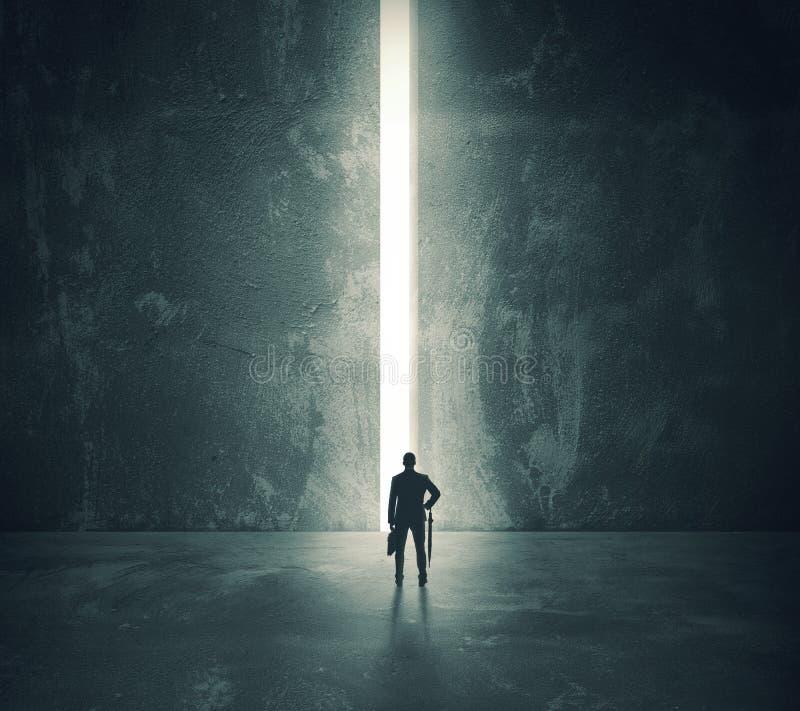 Het licht van de open deur stock foto