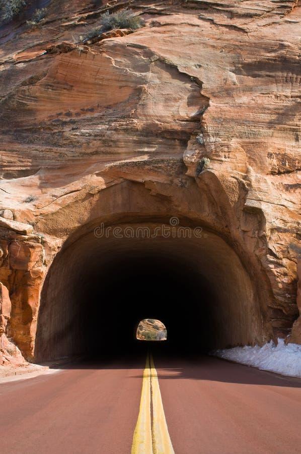 Het Licht van de tunnel stock afbeelding
