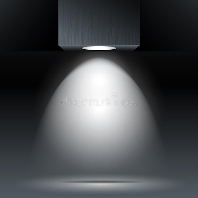 Het licht van de vlek royalty-vrije illustratie