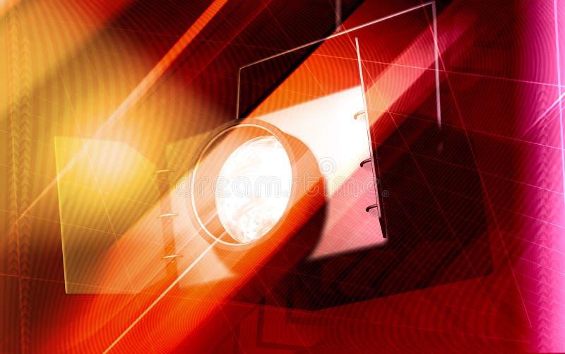 Het licht van de vlek vector illustratie