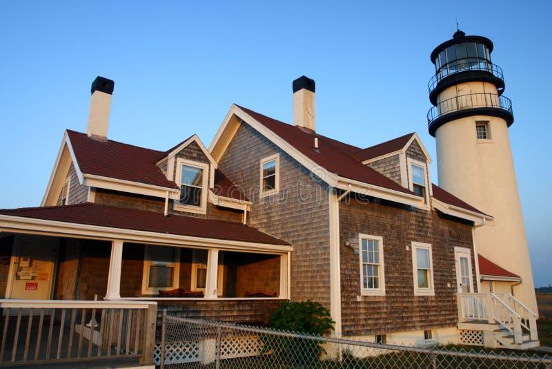 Het Licht van het Punt van het ras is een historische vuurtoren op de Kabeljauw van de Kaap, Massachusetts stock afbeeldingen