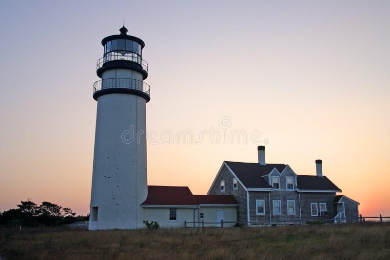 Het Licht van het Punt van het ras is een historische vuurtoren op de Kabeljauw van de Kaap, Massachusetts stock foto's