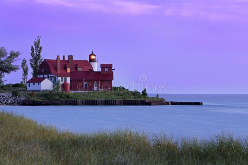 Het Licht van puntbetsie bij Zonsondergang stock foto's