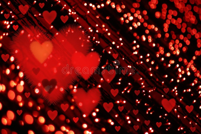Het licht van valentijnskaarten stock illustratie