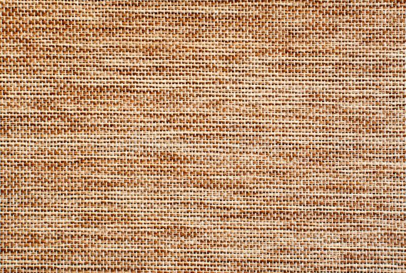 Het Lichtbruine Detail Van De Juteoppervlakte Stock Afbeelding