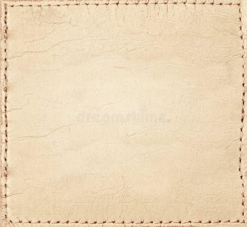 Het lichtbruine etiket van leerjeans royalty-vrije stock foto