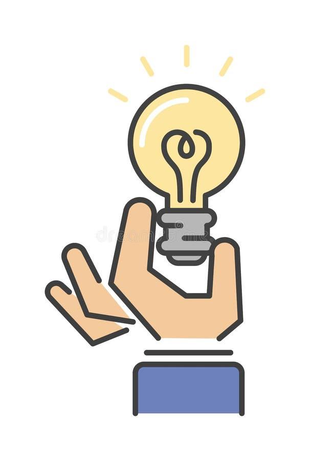 Het lichte concept van het het ideepictogram van het lampteken stock illustratie