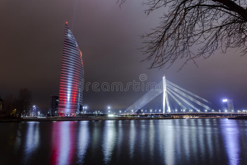 Het lichte festival Staro die Riga (Richtend Riga) anniver vieren royalty-vrije stock fotografie