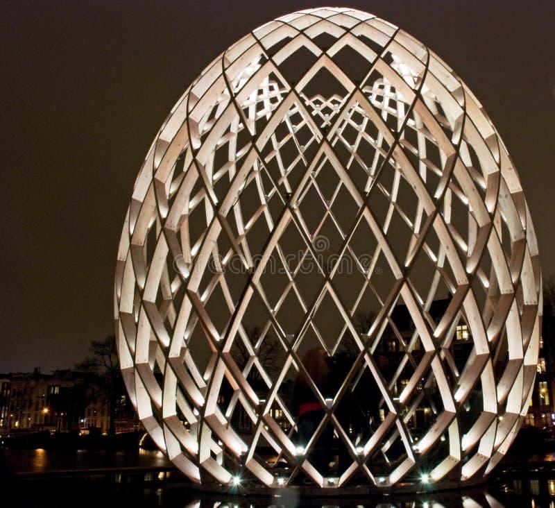 Het Lichte Festival van Amsterdam stock afbeeldingen