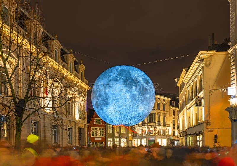Het Lichte Festival van Gent, België royalty-vrije stock afbeelding