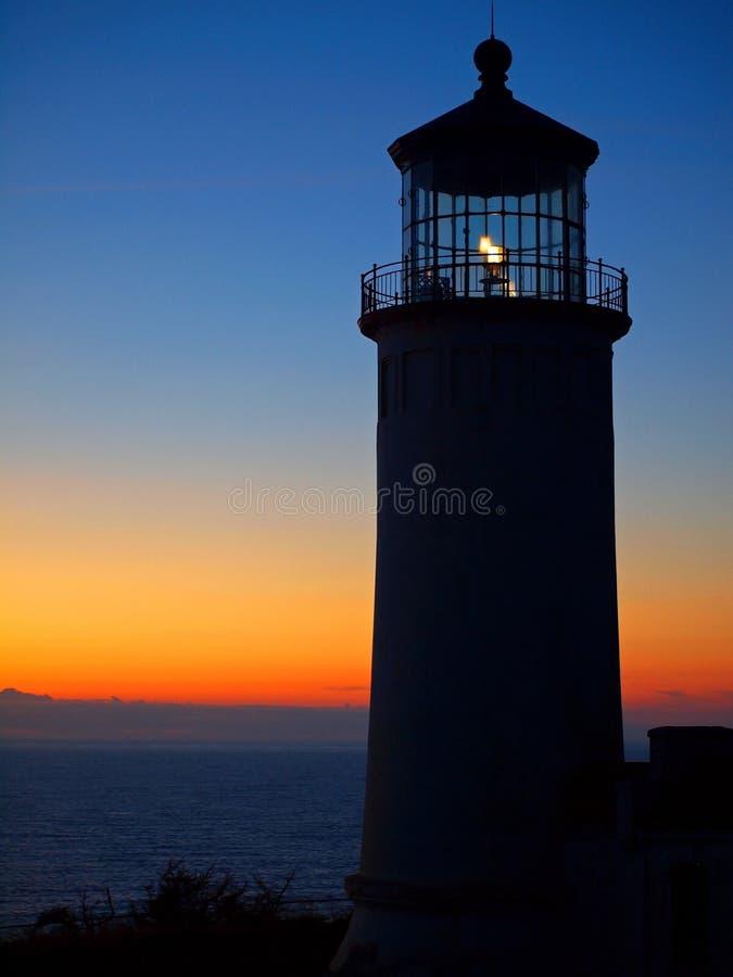 Het lichte Glanzen in de HoofdVuurtoren van het Noorden stock afbeelding