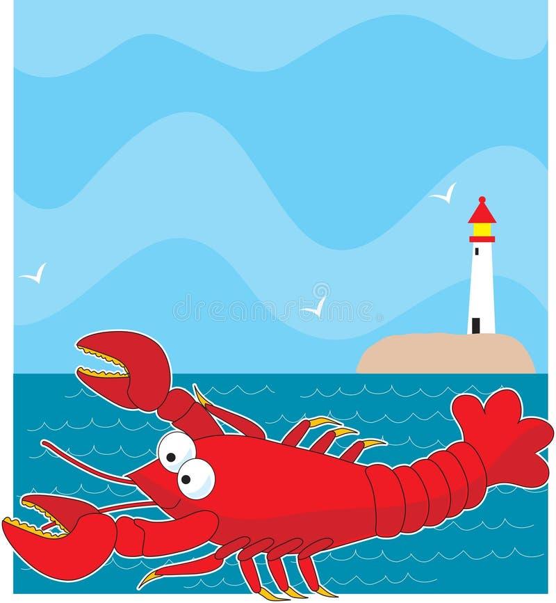Het Lichte Huis van de zeekreeft royalty-vrije illustratie