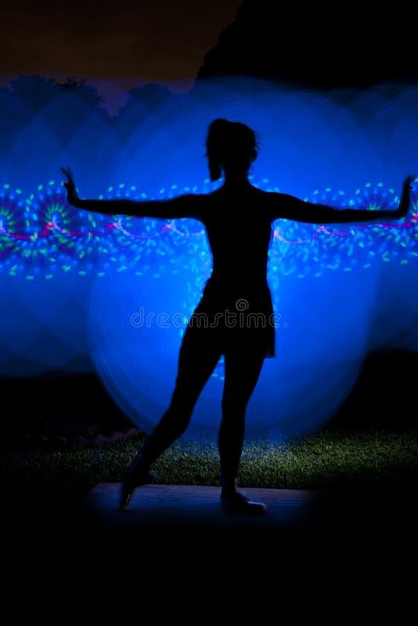 Het lichte Schilderen - Danser royalty-vrije stock afbeelding