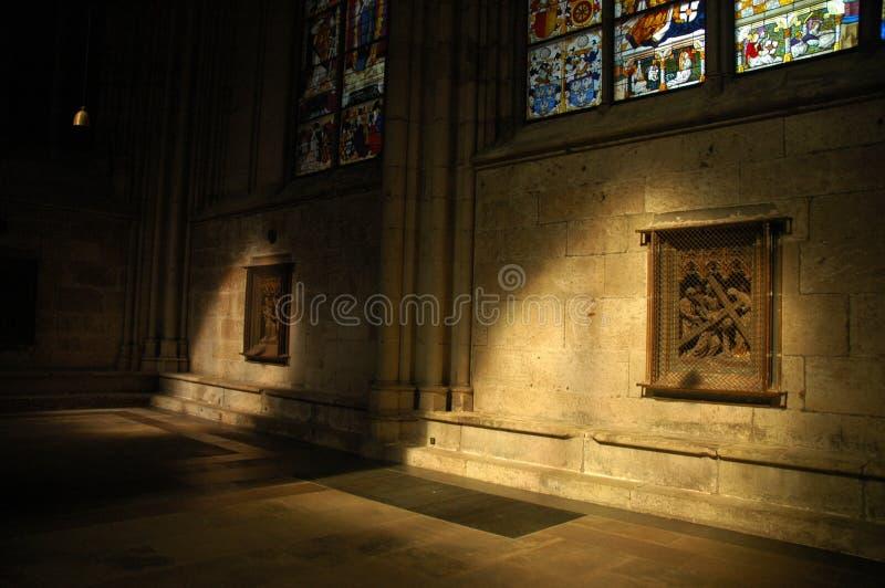 Het lichte spelen met duisternis royalty-vrije stock foto's
