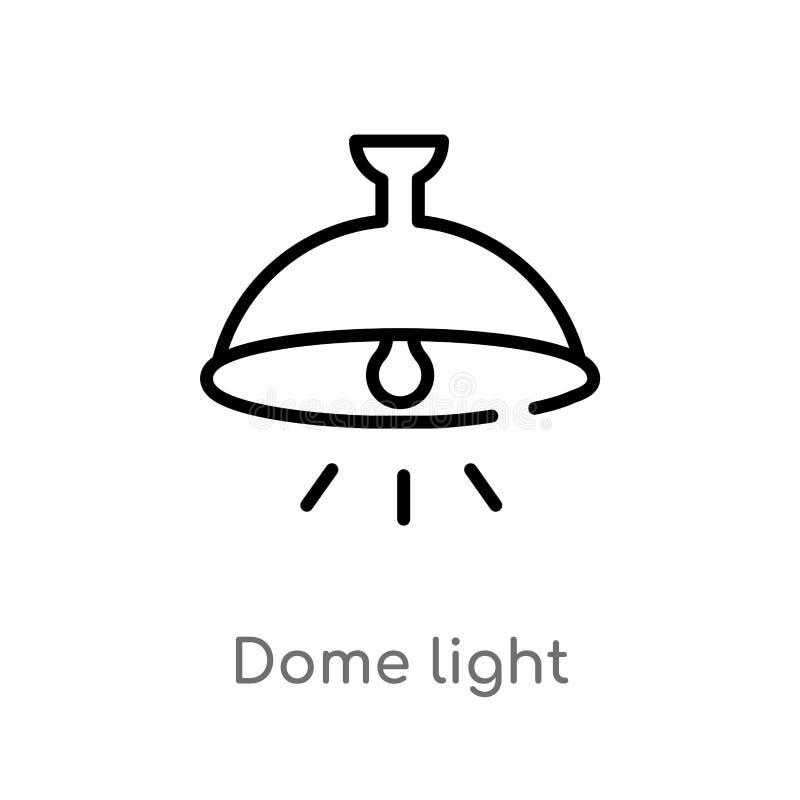 het lichte vectorpictogram van de overzichtskoepel de ge?soleerde zwarte eenvoudige illustratie van het lijnelement van vormencon stock illustratie
