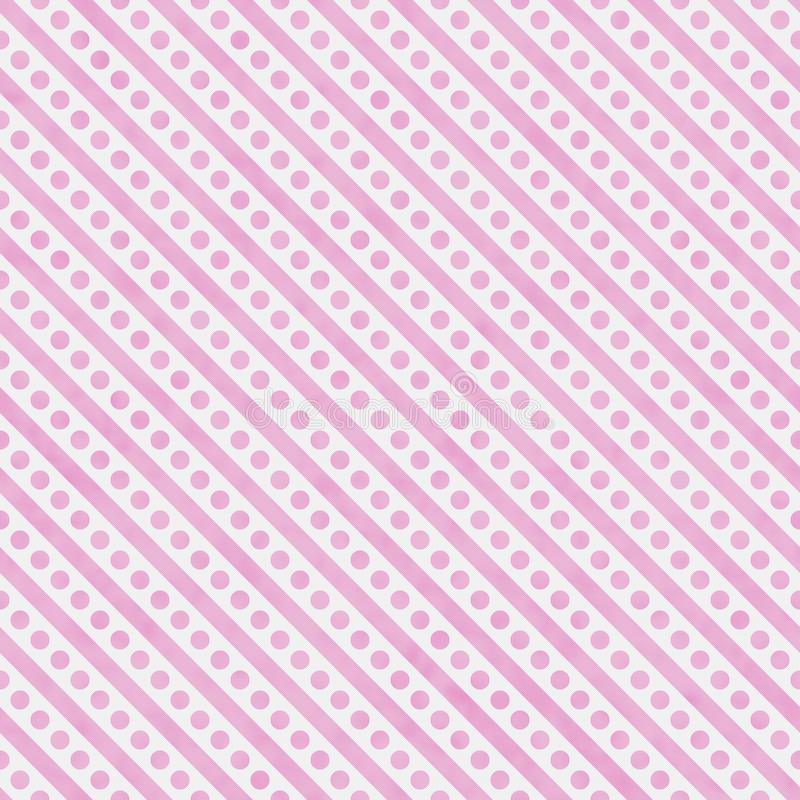 Het lichtrose en Witte Kleine Stippen en Strepenpatroon herhaalt vector illustratie