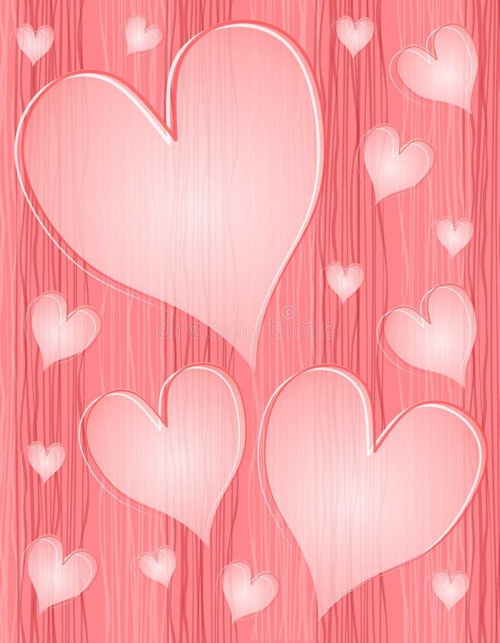 Het lichtrose Geweven Ondoorzichtige Patroon van Harten vector illustratie