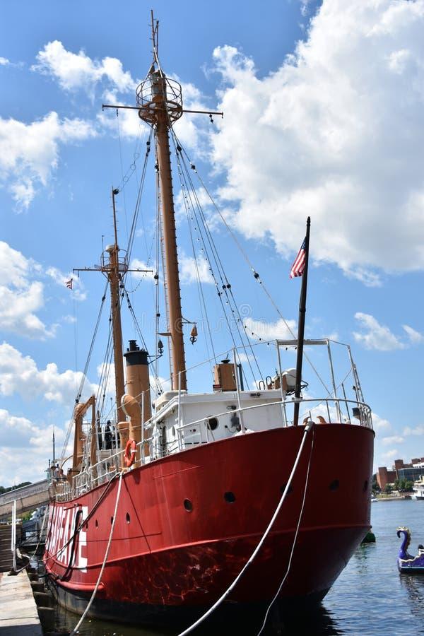 Het lichtschipchesapeake lv-116 van Verenigde Staten in Baltimore, Maryland stock afbeelding