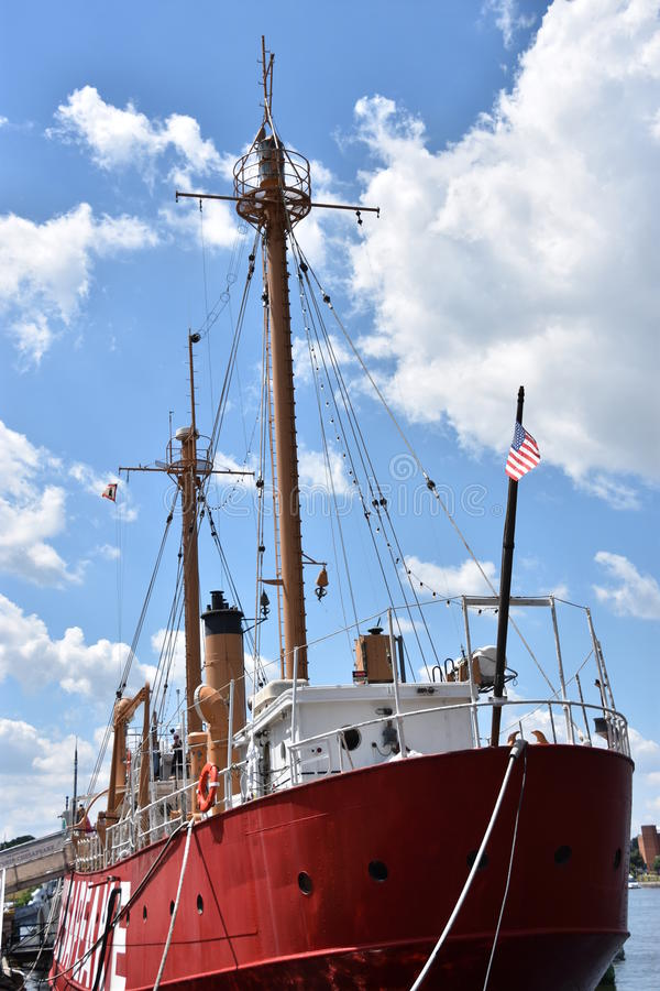Het lichtschipchesapeake lv-116 van Verenigde Staten in Baltimore, Maryland royalty-vrije stock afbeeldingen