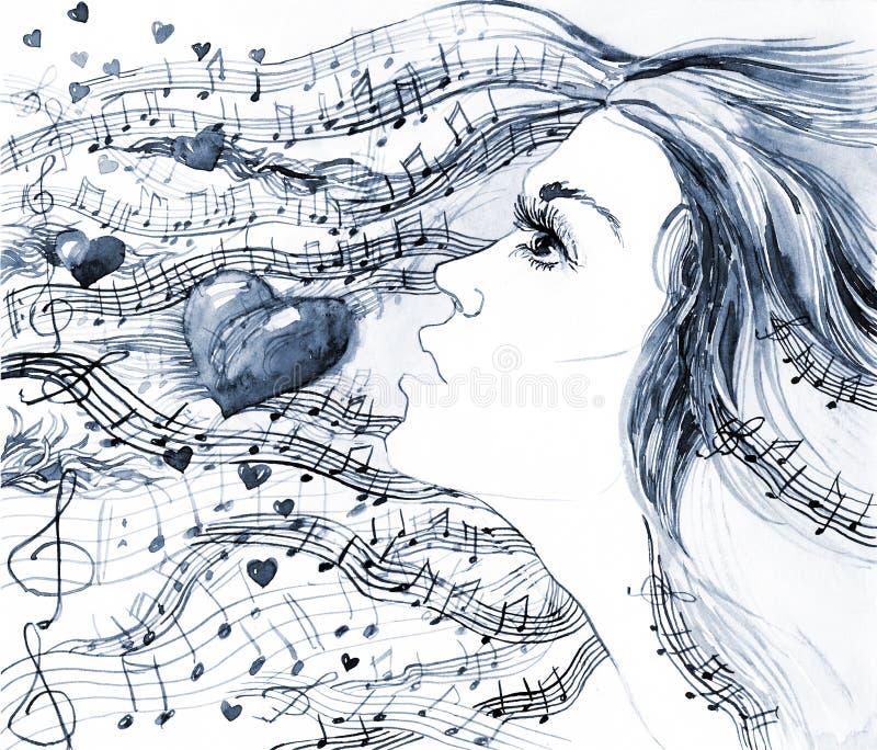Het lied van de liefde vector illustratie