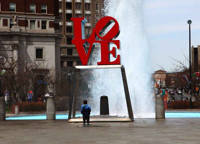 Het Liefdebeeldhouwwerk in Philadelphia, Pennsylvania royalty-vrije stock foto