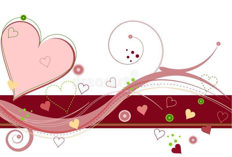 Het Liefje van de valentijnskaart vector illustratie