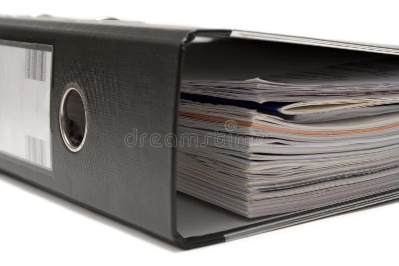 Het liggen het Zwarte Dossier van de Hefboom van de Boog royalty-vrije stock fotografie