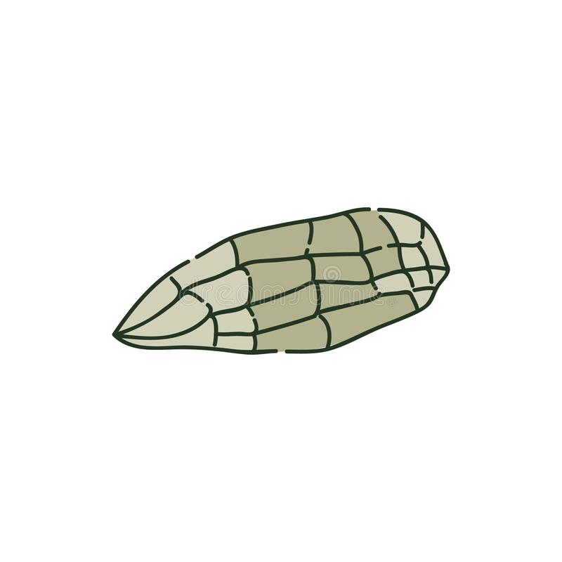 Het liggen oude bijlsteen of stuk van de stijl van de rotsschets vector illustratie