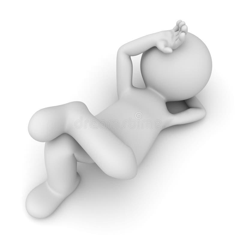 Het lijden van slapeloosheids aan concept vector illustratie