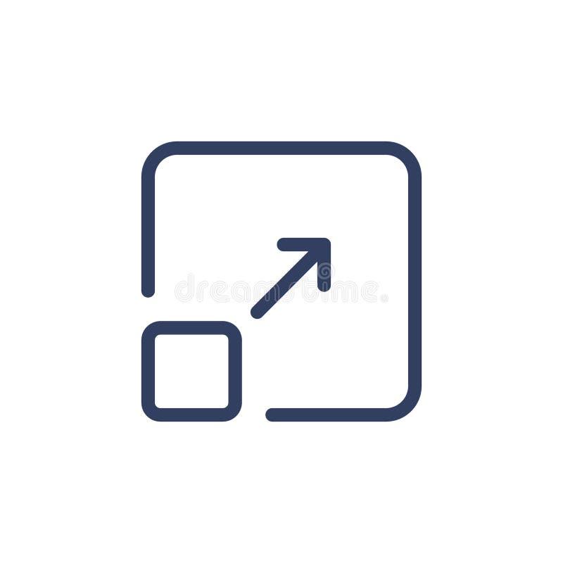 Het lijnpictogram resize vector illustratie