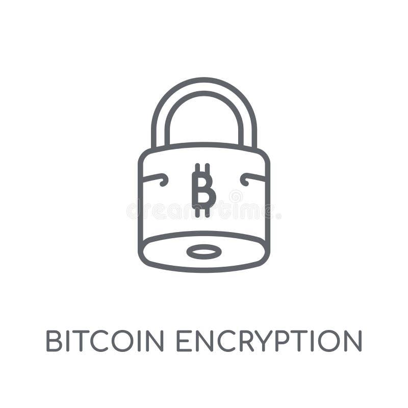 Het lineaire pictogram van de Bitcoinencryptie Moderne encryptio van overzichtsbitcoin stock illustratie