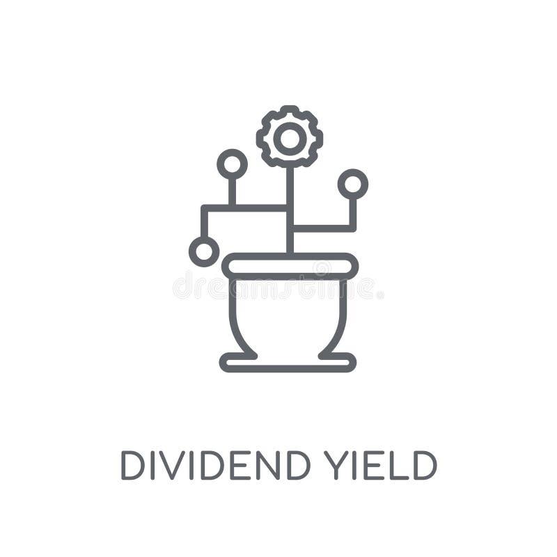 Het lineaire pictogram van de dividendopbrengst Modern de opbrengstembleem c van het overzichtsdividend stock illustratie
